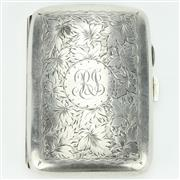 Sale 8264 - Lot 37 - English Hallmarked Sterling Silver George V Cigarette Case