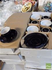 Sale 8464 - Lot 2300 - Cafe Style Coffee Cups & Saucers