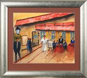 Sale 8753 - Lot 2052 - Angela Caltabiano - Mexican Restaurant 35 x 43cm