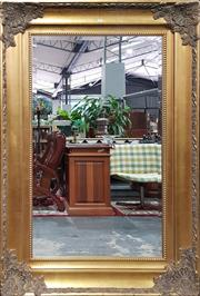 Sale 8769 - Lot 1005 - Large Gilt Framed Bevelled Edge Rectangular Mirror