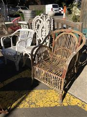 Sale 8801 - Lot 1519 - Collection of 3 Cane Chairs