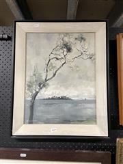 Sale 8878 - Lot 2074 - Artist Unknown - View of Shark Island, oil on canvas, SLL