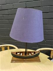 Sale 8988 - Lot 1044 - Timber Boat Form Table Lamp (H:59cm)