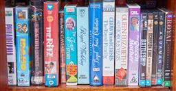 Sale 9103M - Lot 485 - A shelf lot of videos and DVDs