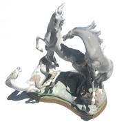 Sale 8268A - Lot 11 - LLADRO FIGURE GROUP OF HORSES