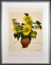 Sale 8309 - Lot 507 - David Rose (1936 - 2006) - Sunflower Study for Vincent, 1991 65.5 x 55cm