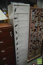 Sale 8386 - Lot 1067 - Metal 11 Drawer Filer