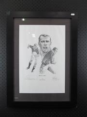 Sale 8578 - Lot 30 - Ben Clarke 10/100 - limited edition print by Craig Primrose, signed and numbered by the artist; framed