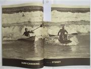 Sale 8431B - Lot 73 - Pictorial, 2 pages called Surf Canoeing in Sydney in Walkabout Magazine December 1937