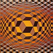 Sale 8666A - Lot 5072 - Victor Vasarely (1906 -1997) - Abstract, 1970 41 x 41cm