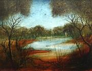 Sale 8713 - Lot 525 - Kevin Charles (Pro) Hart (1928 - 2006) - Swamp Study with Light 34 x 44.5cm