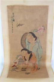 Sale 8923 - Lot 88 - A Chinese Scroll of Ladies