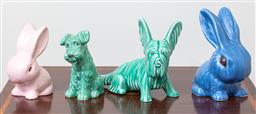 Sale 9103M - Lot 720 - A collection of English ceramic dogs and bunnies. Tallest 18cm