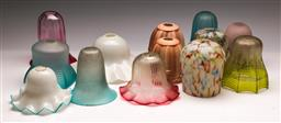 Sale 9131 - Lot 29 - A collection of vintage glass lightshades inc a signed example