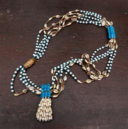 Sale 9160H - Lot 88 - A cowrie shell and beaded necklace, Length 58cm