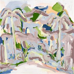 Sale 9244A - Lot 5050 - K LAWTON Palm Valley II acrylic on canvas 71 x 71 cm unsigned