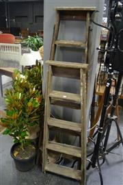 Sale 8054 - Lot 1060 - Pair of Timber Painters Ladders