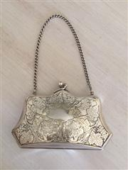 Sale 8259A - Lot 1 - Victorian silvered ladies evening purse, w 12.5cm