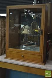 Sale 8326 - Lot 1355 - Small Timber Framed Display Cabinet w Mirrored Back