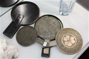 Sale 8360 - Lot 19 - Japanese Hand Mirrors in Fitted Case