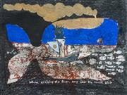 Sale 8497A - Lot 5063 - Greg Hyde (1950 - ) - When crossing the river keep your mouth shut. 1999 24.5 x 32cm