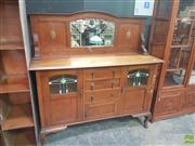 Sale 8648C - Lot 1012 - Timber Mirrored Back Sideboard with Three Drawers & Doors