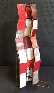 Sale 8984 - Lot 1042 - Fiona Edamedes - This Way Up - Abstract Metal Sheet Composition (H:65 x W:19 x D:27cm)