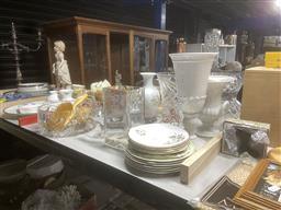 Sale 9101 - Lot 2172 - Crystal Vases, Bowls, Comports, Ceramic Vases, Plates, Dressing Table Pieces, Teddy Bear damaged