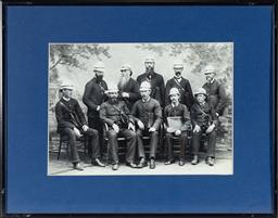 Sale 9130E - Lot 86 - A framed photographic print of Sydney letter carriers, c.1890, frame size 29cm x 36.5cm together with a photographic print depicting...