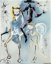 Sale 8112A - Lot 7 - Salvador Dali (1904 - 1989) After. - Knight On Horse 25 x 20cm