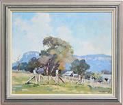 Sale 8162A - Lot 507 - Rhys Williams (1894-1976) - Spring Morning, Capertee 36 x 43.5cm
