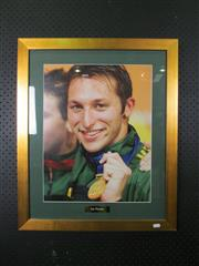 Sale 8582 - Lot 2063 - Ian Thorpe - Framed Photograph