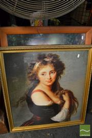 Sale 8471 - Lot 2075 - 2 Framed Prints of Ladies