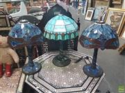 Sale 8648C - Lot 1014 - Collection of 3 Leadlight Table Lamps