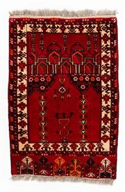 Sale 8800C - Lot 188 - A Persian Baluchi Tribal Hand Knotted Wool Rug, 85 x 140cm