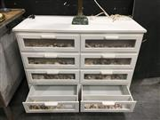Sale 8851 - Lot 1003 - Chest of 8 Drawers with Display Shell Front