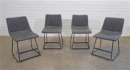 Sale 9188 - Lot 1530 - Set of 4 chairs in charcoal (h:76 x w:44 x d:40cm)