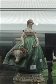 Sale 7988 - Lot 7 - Italian Figure of a Lady with Flowers