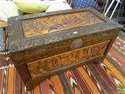 Sale 8465 - Lot 1637 - Carved Lift Top Trunk