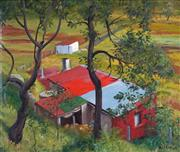 Sale 8858 - Lot 529 - Weaver Hawkins (1893 - 1977) - The Red Roof, 1947 36.5 x 44 cm