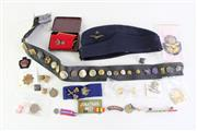 Sale 8952 - Lot 90 - A Collection Of Mostly Bristish Medals And Badges Together With Airforce Cap And Others