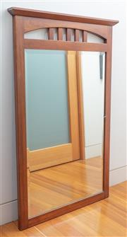 Sale 9044H - Lot 69 - An Ethan Allan (US) Americans Impressions range cherrywood framed bevelled edge mirror, Height 117cm x Width 77cm