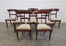 Sale 9151 - Lot 1302 - Set of 8 timber spadeback dining chairs (h85 x w50 x d46cm)