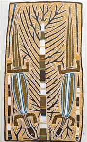 Sale 8260A - Lot 58 - David Malangi Daymirringu (1927 - 1999) - Lizard Dreaming 130 x 80cm