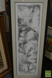 Sale 8537 - Lot 2167 - D. Roberts-Thomson, Untitled, mixed media, frame size: 125 x 50cm, signed lower right