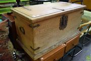 Sale 8566 - Lot 1551 - Timber Chest with Metal Fittings