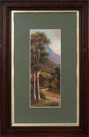 Sale 8753 - Lot 2054 - A Fitzroy - Road to Mt. Kembla near Wollongong, 1906 35 x 14cm