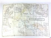 Sale 8793 - Lot 23 - New Guinea Campaign, a large silk scarf (59 x 82cm) showing West New Guinea as prepared by the Royal Australian Airforce