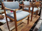 Sale 8760 - Lot 1094 - Pair of Timber Framed Reception Chairs