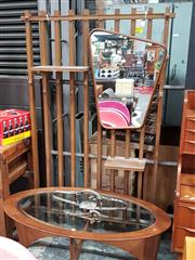 Sale 8782 - Lot 1062 - 1950s Wall Hung Hallstand with Mirror & Shelves